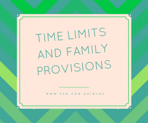 family provision claim time limit