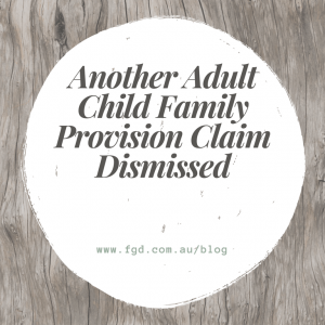 Adult Child Family Provision