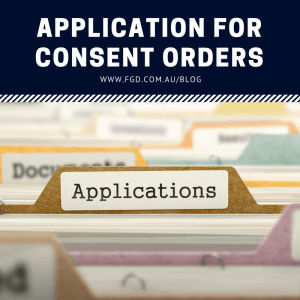Application for Consent Orders