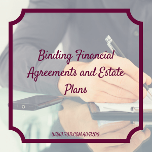 Binding Financial Agreement