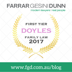 First Tier DOYLES Family Law 2017 Award