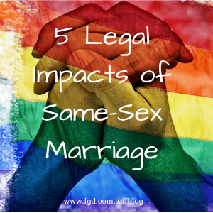 5 Legal Impacts of Same-Sex Marriage