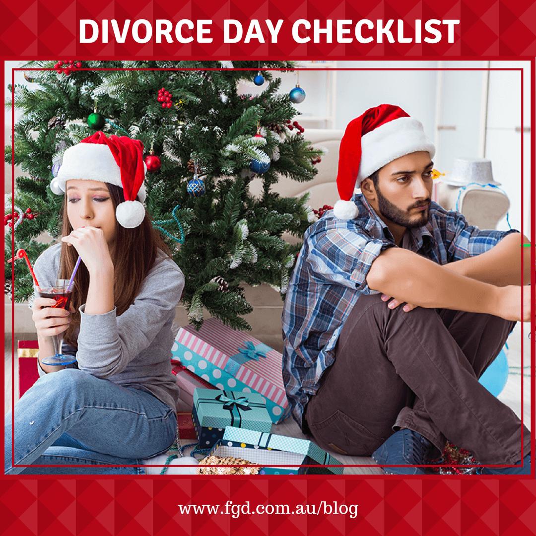 Divorce Day Checklist